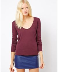 James Perse Long Sleeve Casual Tshirt - Lyst
