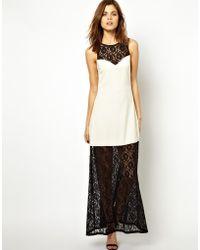 Jarlo Lace Layered Maxi Dress - Lyst