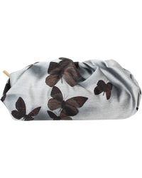 Lanvin Butterfly Print Gold Clutch - Lyst