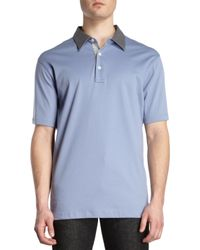 Michael Kors Contrast Collar Polo - Lyst