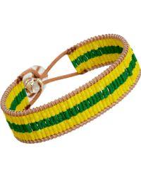 Nikki B - Leather Cord Bracelet with Glass Beads - Lyst