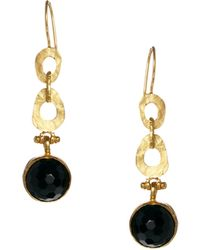 Freya Ottoman Hands Chain Drop Earrings - Lyst
