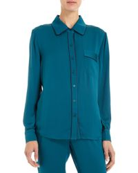 Piamita - Solid Isabella Pajama Shirt - Lyst