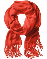 Banana Republic Solid Fringe Scarf Red - Lyst