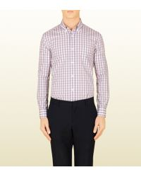 Gucci Colored Check Classic Button-down Shirt - Lyst