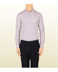 Gucci Colored Check Classic Button-down Shirt - Lyst