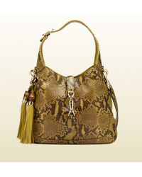 Gucci New Jackie Python Shoulder Bag - Lyst