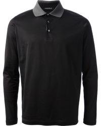 Lagerfeld - Long Sleeve Polo Shirt - Lyst