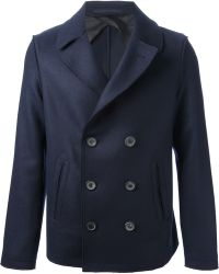 Lanvin Doublebreasted Peacoat - Lyst