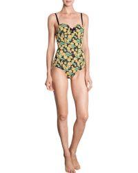 Lanvin - Floral Swimsuit - Lyst