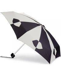 Lulu Guinness Black and Stone Lips Umbrella Black and Stone Lips Umbrella - Lyst