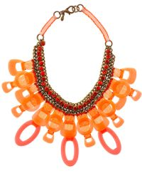 Sveva Collection - Orange Vegas Crystal Necklace - Lyst
