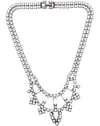 Tom Binns - Two Tiered Crystal Necklace - Lyst
