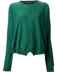 Tom Scott | Split Hem Sweater | Lyst