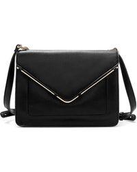 Zara Messenger Bag with Metallic Detail - Lyst