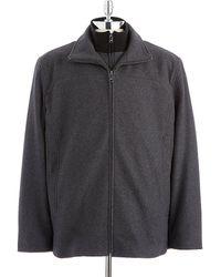 Calvin Klein Wool Bib Coat - Lyst