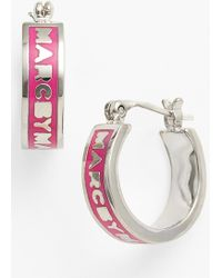 Marc By Marc Jacobs Classic Marc Hoop Earrings - Lyst