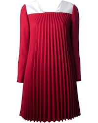 Valentino Pleated Dress - Lyst