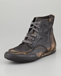 7 For All Mankind | Logan Burnished Camo Boot | Lyst