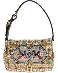 Dolce & Gabbana Mosaic Beaded Shoulder Bag - Lyst