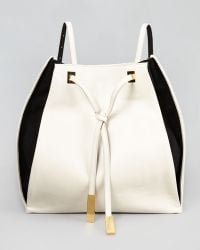 Stella McCartney Bicolor Faux-Leather Rucksack white - Lyst