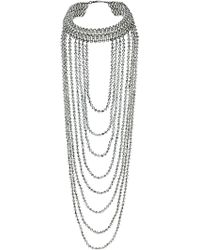 Topshop Small Beaded Drape Necklace - Lyst