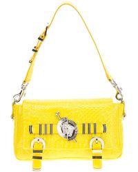 Versace Micro Vanitas Patent Handbag - Lyst