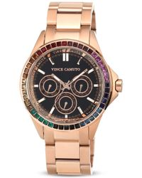 Vince Camuto - Multicolour Crystal Dial Chronograph Watch 42mm - Lyst