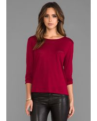 G-Star RAW Loose R T Long Sleeve in Red red - Lyst