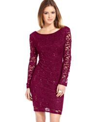 Jump - Long Sleeve Lace Sequin Mini - Lyst
