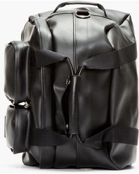 Kris Van Assche - Black Pvc Convertible Duffle Backpack - Lyst