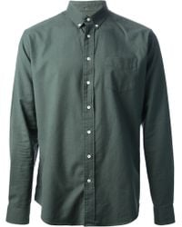 Schnayderman's Green Oxford Shirt - Lyst