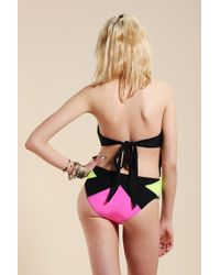 Urban Outfitters - Beach Riot Color Block One-piece Swimsuit - Lyst
