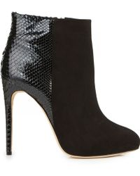 Alexandre Birman Python and Suede Ankle Boots - Lyst