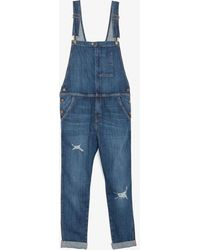 Current/Elliott Ranch Hand Denim Overalls - Lyst