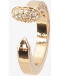 Giles & Brother Crystalized Nail Ring - Lyst