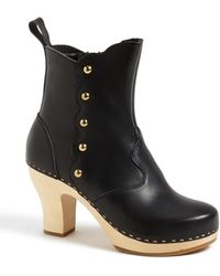 Swedish Hasbeens Button Bootie - Lyst