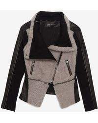 Yigal Azrouël Curly Hairleather Moto Jacket - Lyst