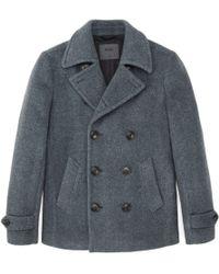 Onassis Clothing Wool Peacoat - Lyst