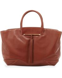 B Brian Atwood - Grace Eastwest Leather Tote Bag Brown - Lyst