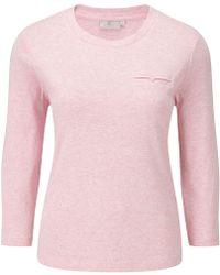 Cc Pocket Detail Crew Neck Basic pink - Lyst