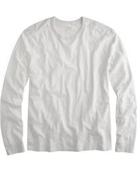 J.Crew Long-Sleeve Textured-Cotton Tee - Lyst