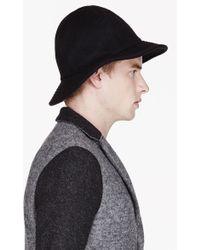 Robert Geller Black Felted Wool Conrad Hat