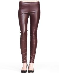 The Row Stretch Leather Skinny Pants - Lyst