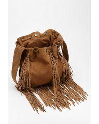 Ecote Suede Fringe Shoulder Bag 23
