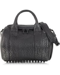 Alexander Wang Rockie Pebbled Leather Stud-Bottom Satchel Bag - Lyst