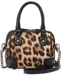 Alice + Olivia - Olivia Mini Calf Hair Shoulder Bag Leopard Alice Olivia - Lyst
