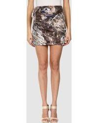 Aminaka Wilmont Mini Skirt gray - Lyst