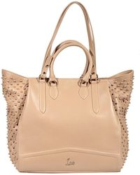 Christian Louboutin Bag Justine Leather and Studded Tote Bag - Lyst