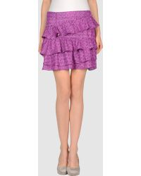 DKNY Mini Skirt - Lyst